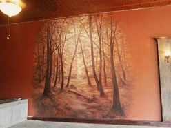 Restaurant Mural by artist David Freeman